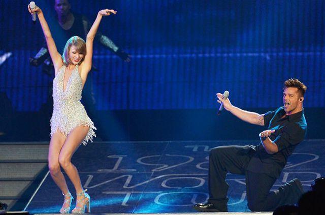 Taylor Swift y Ricky Martin compartieron el escenario