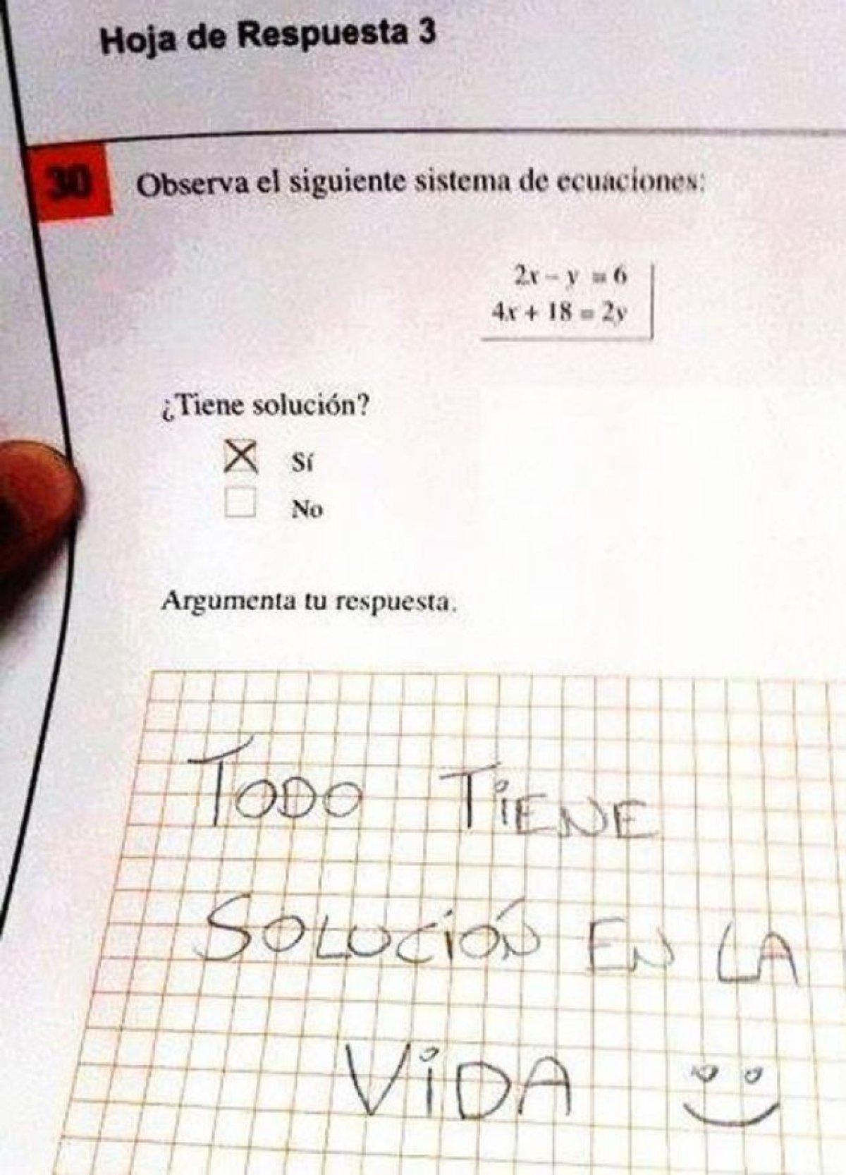 Resultado de imagen para respuestas de examenes graciosas reales