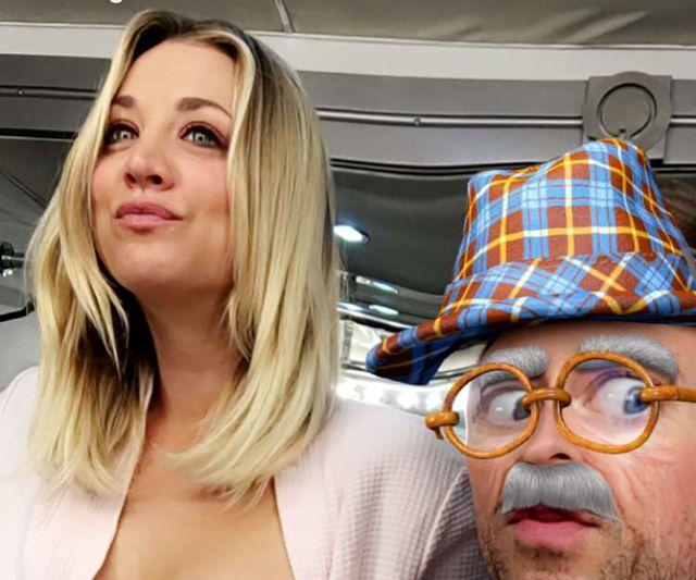 Kaley Cuoco se destapa para Snapchat