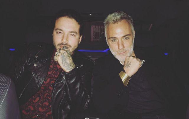 Gianluca Vacchi y J Balvin en encuentro en Italia