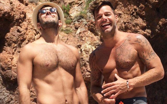Ricky Martin y Jwan Yosef durante sus vacaciones