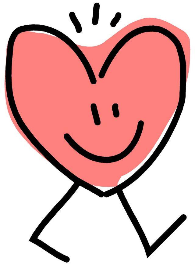 Una persona con un gran corazón