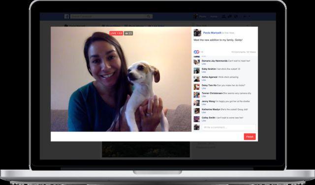 Transmite Facebook Live desde tu computadora