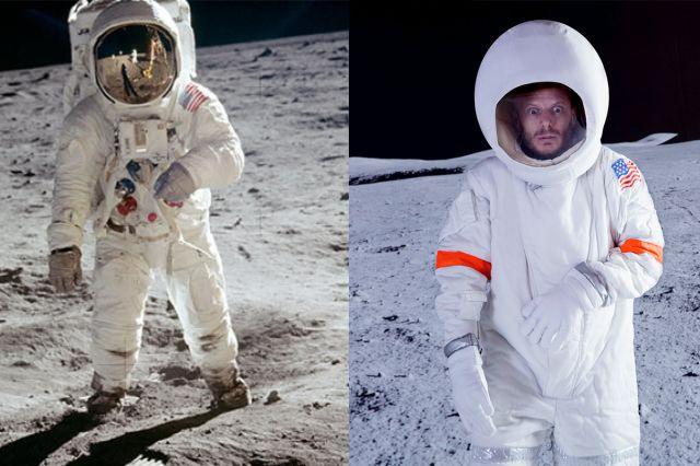 Recreamos la famosa foto del hombre llegando a luna