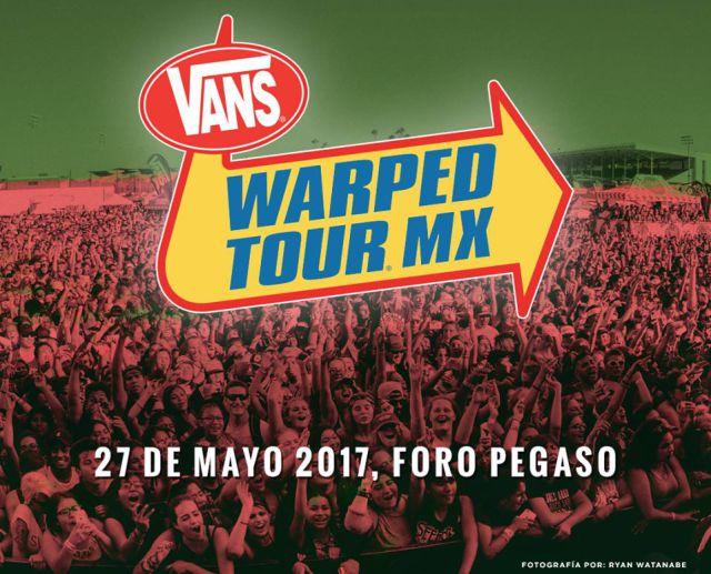 Llega el cartel completo de Vans Warped Tour MX