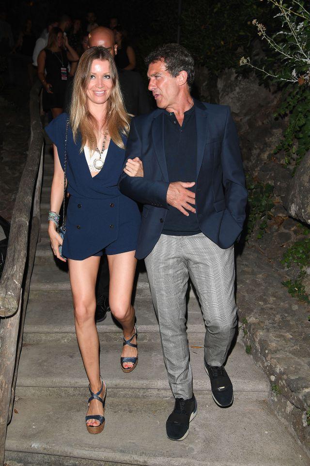 Antonio Banderas y su novia Nicole Kimpel