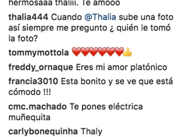 Thalía comparte foto en sexy
