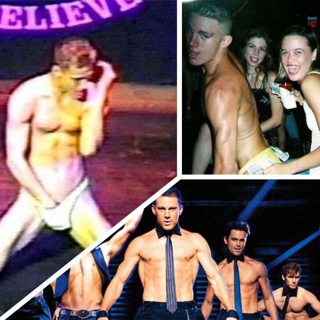 Channing Tatum en su etapa con striptease