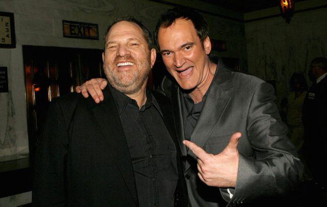 Quentin Tarantino con Harvey Weinstein