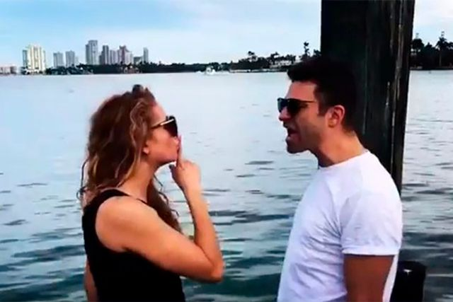 Paulina y Ari Borovy publicaron dos videos donde dejan ver que Rubio estará en la gira en Mérida