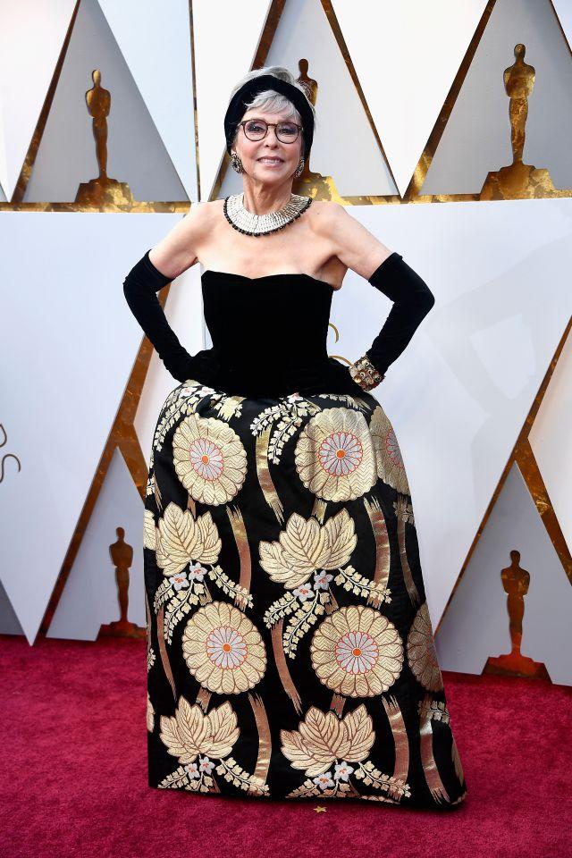 Rita Moreno vestido 2018