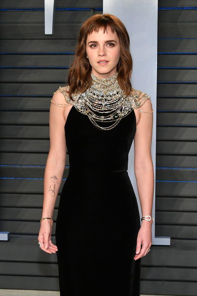 Emma Watson en la fiesta de Vanity Fair