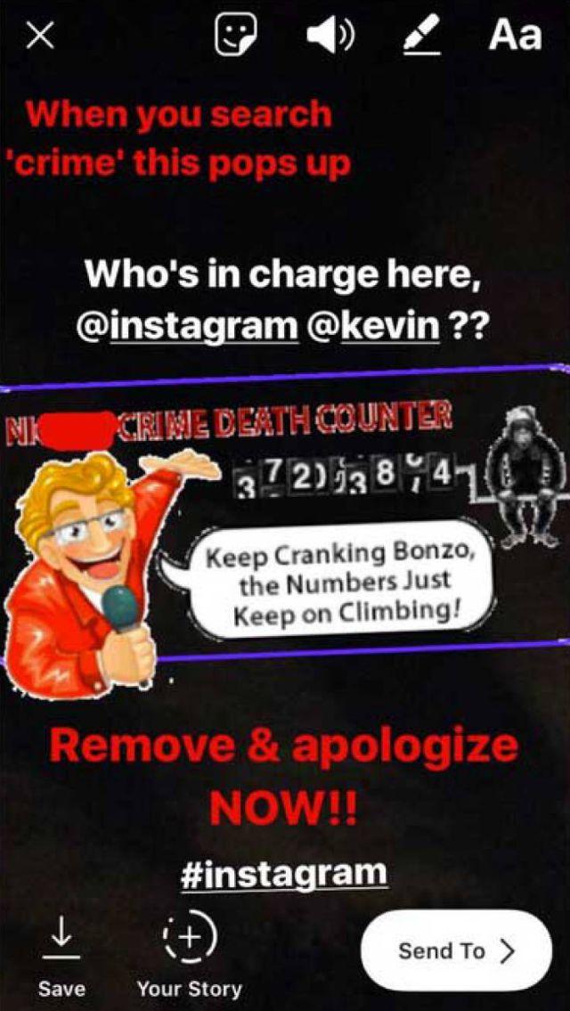 GIF racista en Instagram