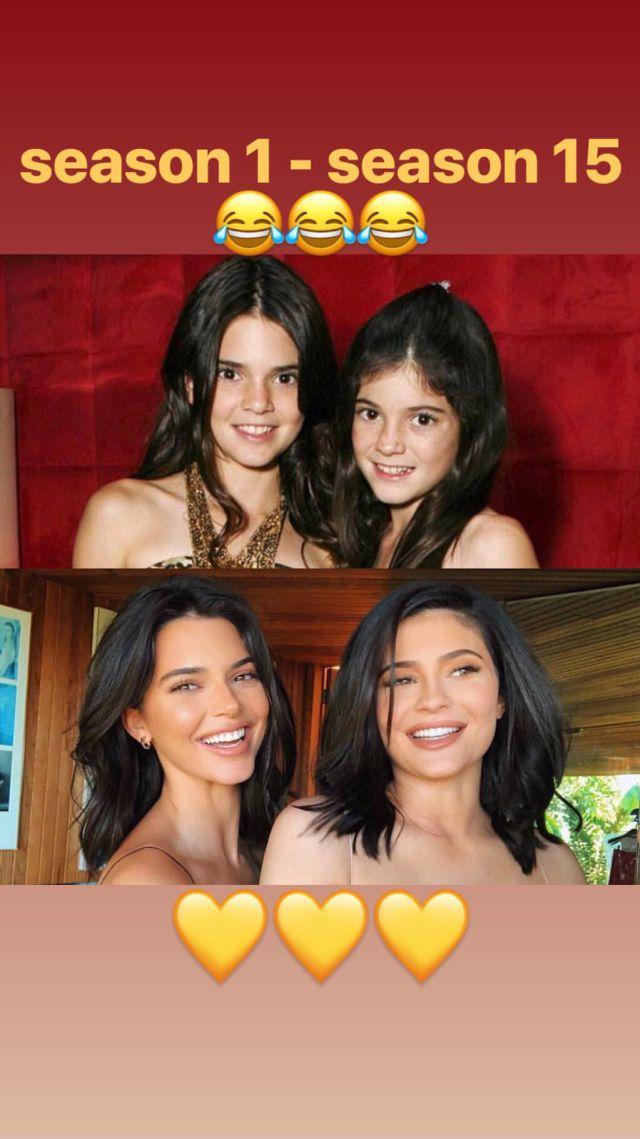 Kendall y Kylie antes y después
