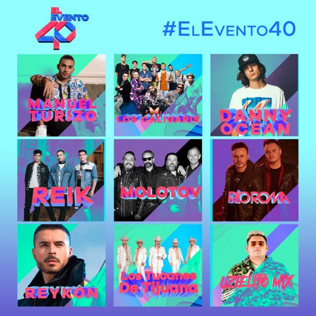 El Evento 40 2019: Lo más escuchado del momento en Foro Sol te presentan a los artistas que tocarán en el concierto entre ellos: Los Caligaris, Molotov, Río Roma, Reykon y más