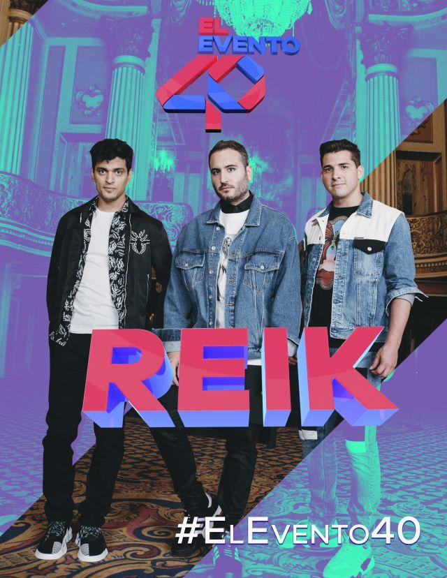 Reik en concierto en el Evento 40 2019 con sus mejores éxitos de sus 7 álbumes.