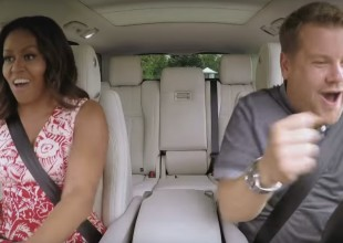 Michelle Obama se sube al Carpool Karaoke
