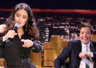 "Salma Hayek convierte ""All By Myself"" en una salsa"