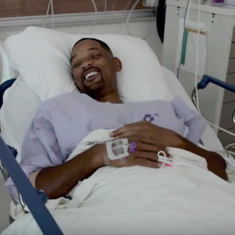 Will Smith anestesiado, comparte video desde el hospital
