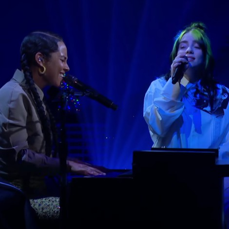 "Billie Eilish y Alicia Keys hacen dueto de ""Ocean Eyes"""