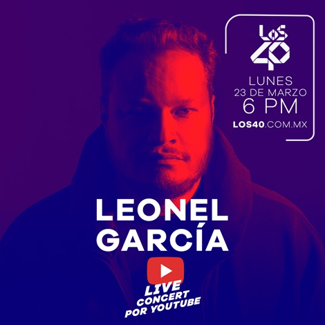 Leonel García en showcase por YouTube